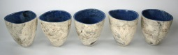 crucibles with blue interiors