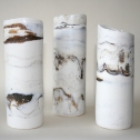 Selection of 3 cylinders from Holme next the Sea collection. Size: 5cm x 12cm (approx). Price: £65 each
