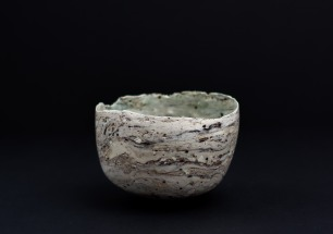 Small vessel using found material from Cornish copper mining waste. Size: 9cm x 11cm. Price £105