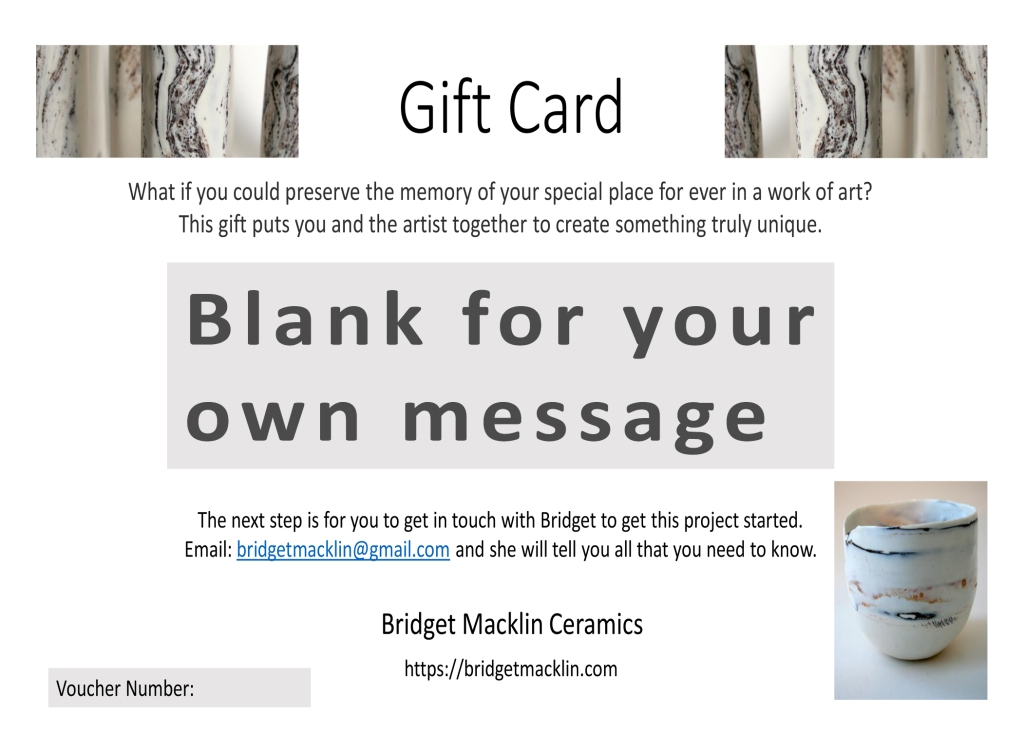 Gift card for personalised unique gift for wedding or anniversary