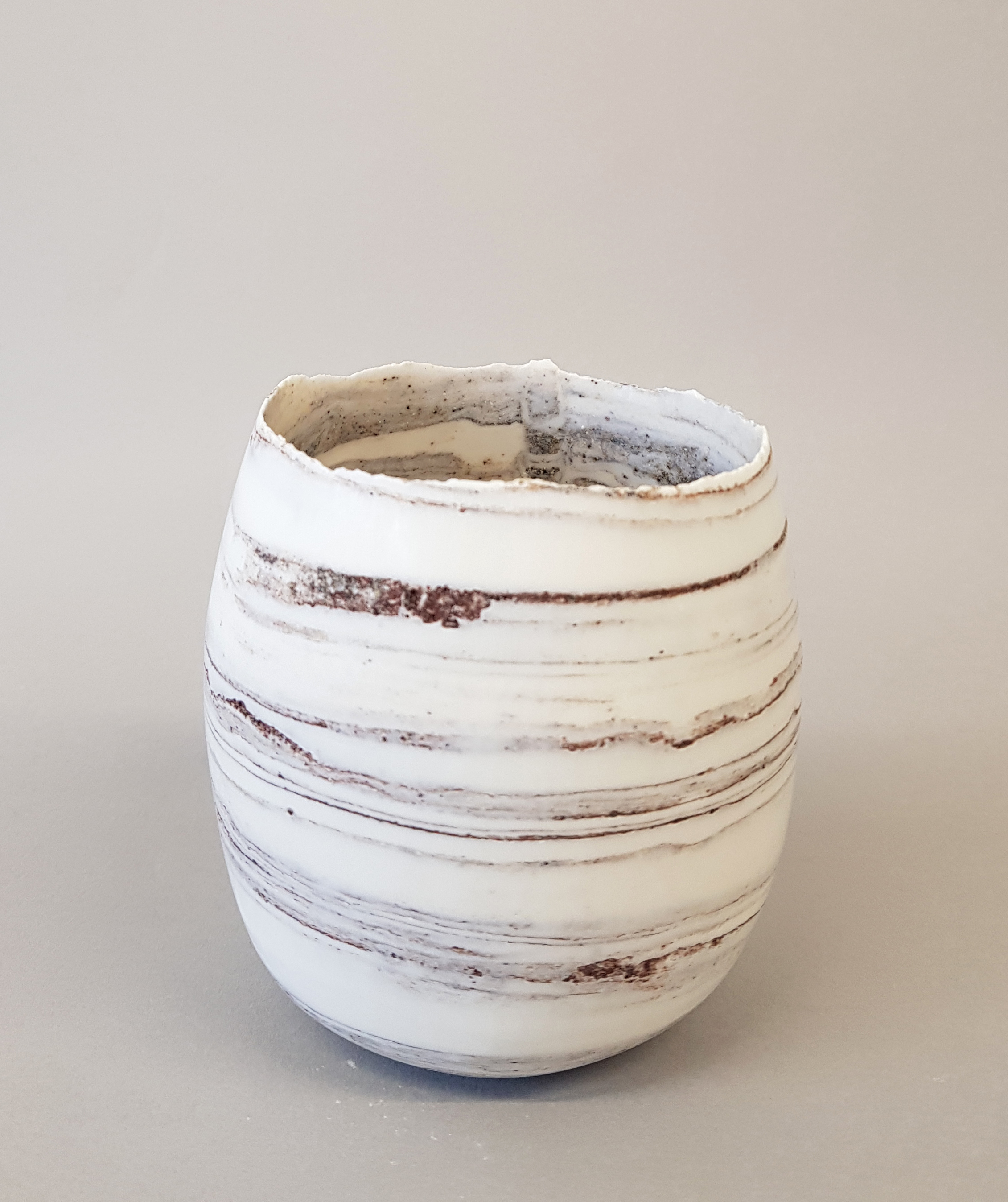 Fragile porcelain with clay from a meadow in oxford